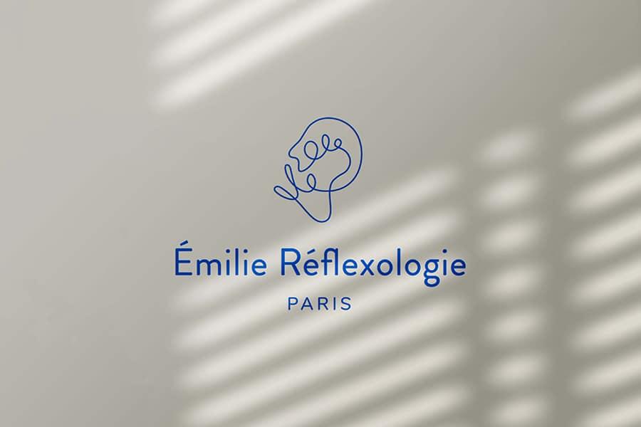 Émilie Réflexologie création graphique logo