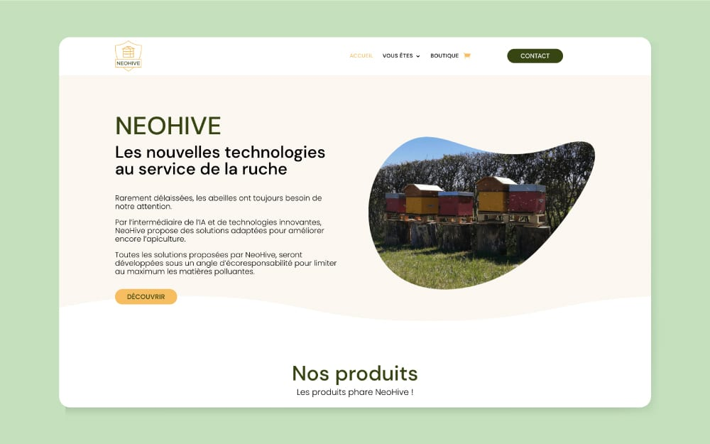 NeoHive création site e-commerce
